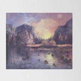 fantasy landscape Throw Blanket