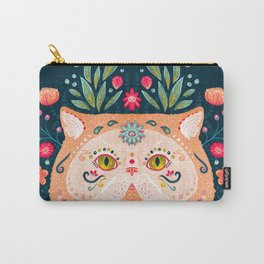 Candied Sugar Skull Kitty Carry-All Pouch
