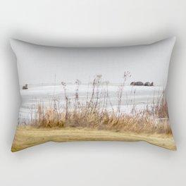Four Otters Rectangular Pillow