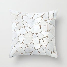 white stone home decor Throw Pillow