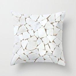 white stone home decor Throw Pillow