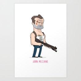 7 - John McClane Art Print