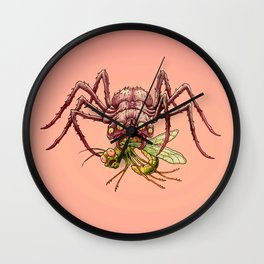 SPIDER MEAL Wall Clock
