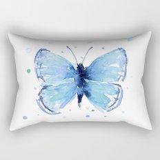 Blue Butterfly Watercolor Butterflies Animals Rectangular Pillow