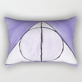 Purple Deathly Hallows Rectangular Pillow