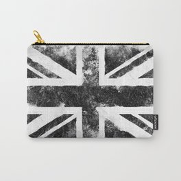 Black Grunge UK Flag Carry-All Pouch