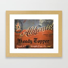 Vermont Brewers Series The Alchemist Framed Art Print