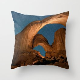 Double  Arch  - Nature Window in Utah Throw Pillow