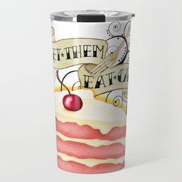 Let Them Eat Cake Vintage Tattoo Style Travel Mug