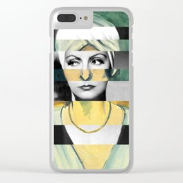 Matisse's Woman with a Turban & Greta Garbo Clear iPhone Case