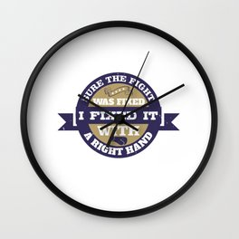 Sure the fight was fixed. I fixed it with a right hand Wall Clock