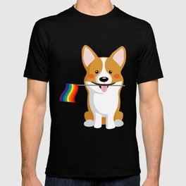 LGBT Gay Pride Flag Corgi - Pride Women Gay Men T-shirt