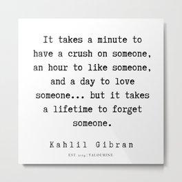 29    | Kahlil Gibran Quotes | 190701 Metal Print
