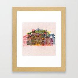 Letterpress Houses 4 Framed Art Print