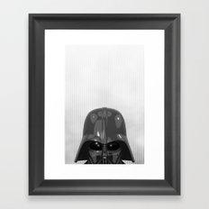 Darth Vader Bottom Framed Art Print