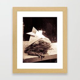 Paper Samurai, Bearded Dragon, Lizard Framed Art Print