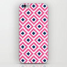 Pink and Navy Blue Diamonds Ikat Pattern iPhone & iPod Skin