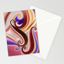 Orangepurple curve  Stationery Cards