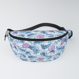 Ipomea Flower_ Morning Glory Floral Pattern Fanny Pack