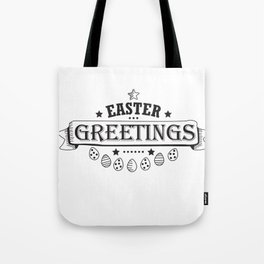 Easter Greetings Black Style Design Funny Easter Outfit Tote Bag