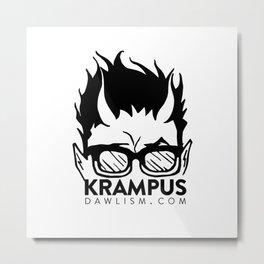 Krampus logo by Dawlism Metal Print