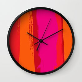 dynamic stripes Wall Clock