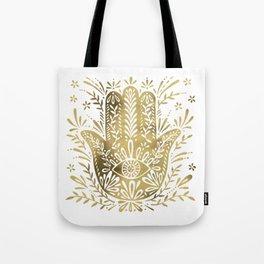 Hamsa Hand – Gold Palette Tote Bag