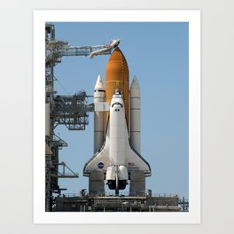 777. Space Shuttle Endeavour on Pad 39a Art Print