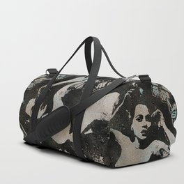Heavy Crown II (nude butterfly pin up, erotic graffiti) Duffle Bag