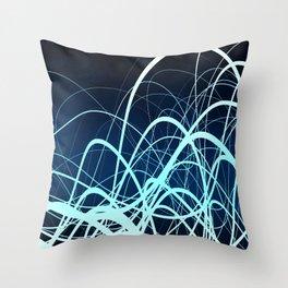 Blue Movement2 Throw Pillow