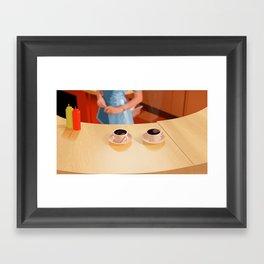 Coffee in Double R Dinner Framed Art Print