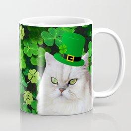 St. Patrick's Day Irish Cat Coffee Mug