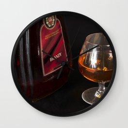 A Little Nip - Brandy Wall Clock
