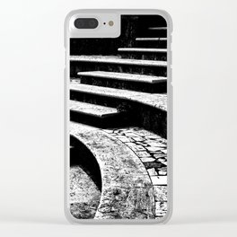 Stairs and curves Clear iPhone Case