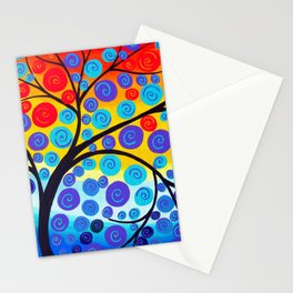 red tree of life Stationery Cards