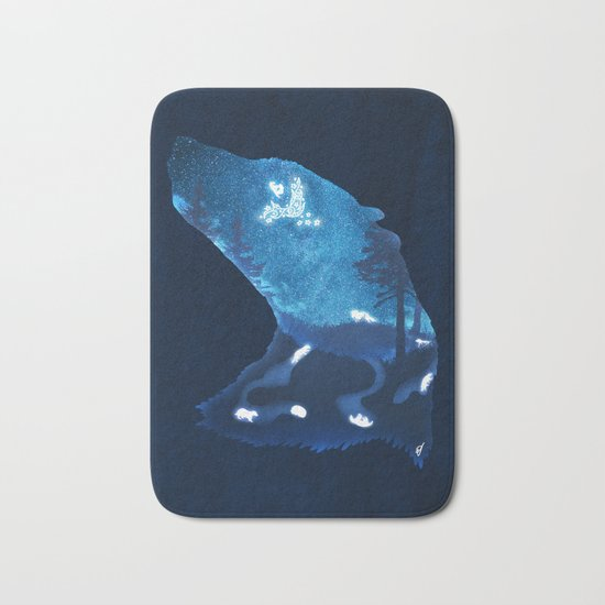 Moon Badgers Bath Mat