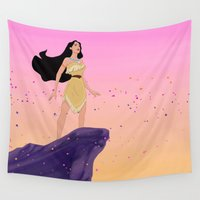 pocahontas Wall Tapestries featuring Pocahontas #2 by Vita♥G
