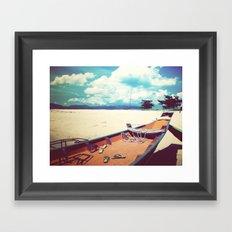 Longboat on the Shore, Thailand Framed Art Print