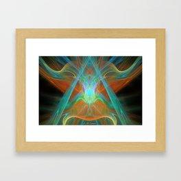 Caped Alien Framed Art Print