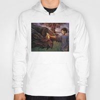 cyrilliart Hoodies featuring Dragon Series: Louis by Cyrilliart