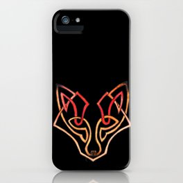 Celtic fox - celtic knot iPhone Case