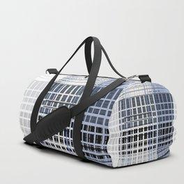 white blue plaid Duffle Bag