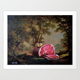Black Forest Ham Art Print