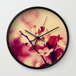 pink blossoms Wall Clock