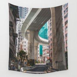 Hong Kong Street Bridge Wall Tapestry