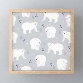Northern Bear Framed Mini Art Print