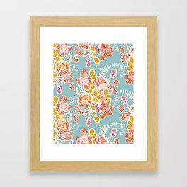spring harvest bouquet Framed Art Print