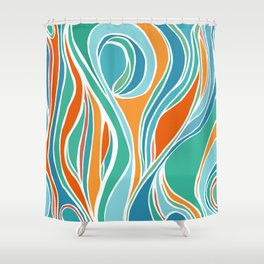 Campfire Abstract Shower Curtain