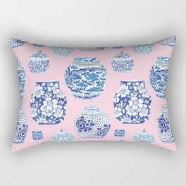 Chinoiserie Ginger Jar Collection No.7 Rectangular Pillow