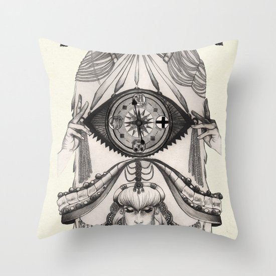 Thoughts Compass Throw Pillow